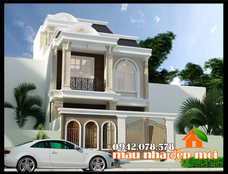 Màu sắc trang trí đẹp mắt và giàu cảm xúc bởi Công ty TNHH TKXD Nhà Đẹp Mới Châu Á