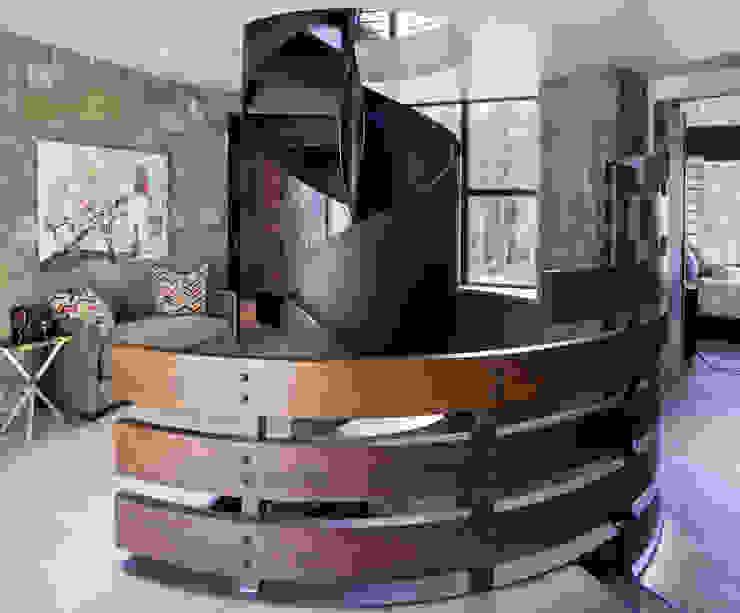 Contemporary Mountain Chalet Andrea Schumacher Interiors Modern corridor, hallway & stairs