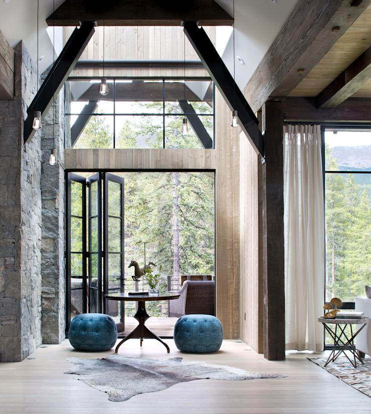 Andrea Schumacher Interiors ห้องโถงทางเดินและบันไดสมัยใหม่