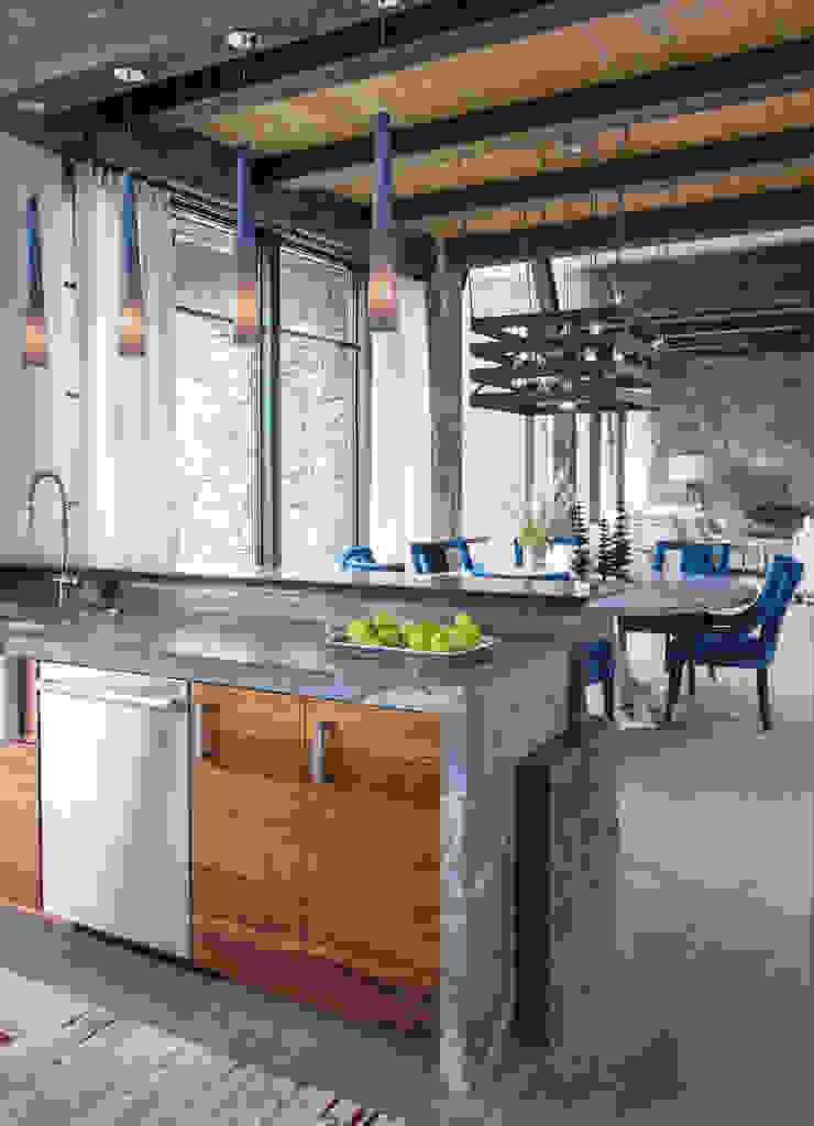 Contemporary Mountain Chalet Andrea Schumacher Interiors Modern style kitchen