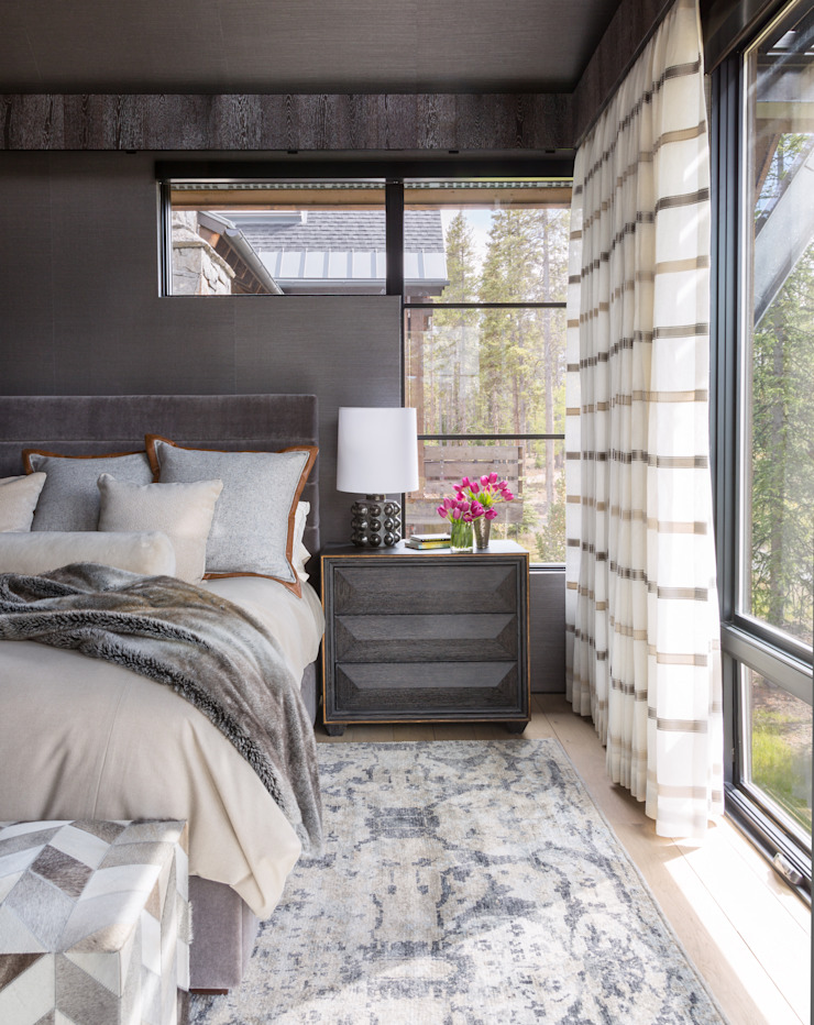 Contemporary Mountain Chalet Andrea Schumacher Interiors Modern style bedroom