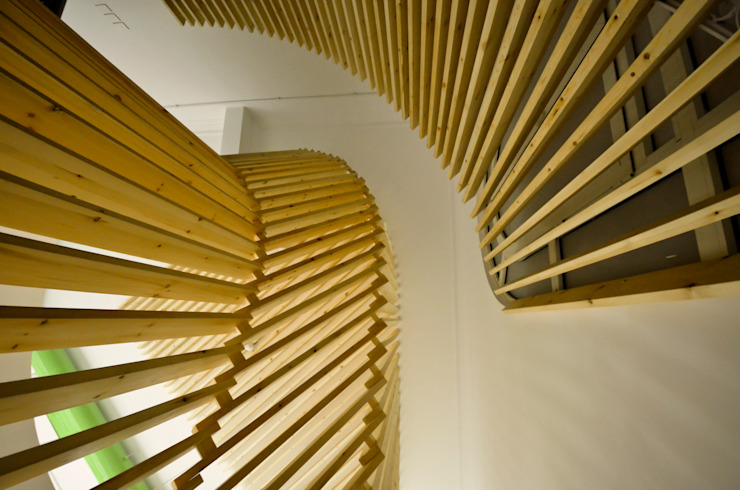 Staircase Design 根據 CUBEArchitects 簡約風 木頭 Wood effect