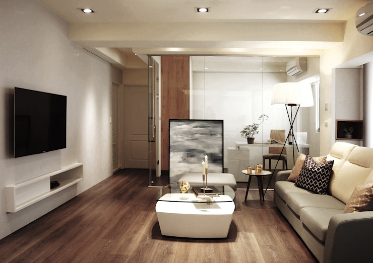 ห้องนั่งเล่น โดย 陳府設計 Chenfu Design,