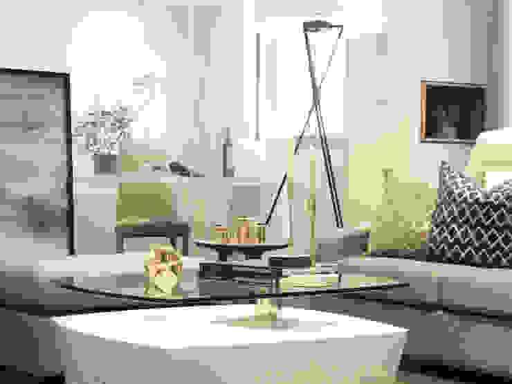 私宅/ Kaohsiung 现代客厅設計點子、靈感 & 圖片 根據 陳府設計 Chenfu Design 現代風