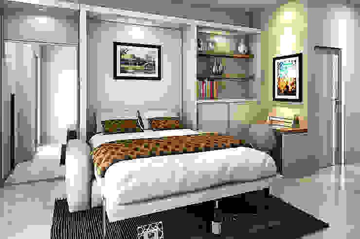 Apartemen Studio Oleh Akilla Concept Klasik Kayu Wood effect