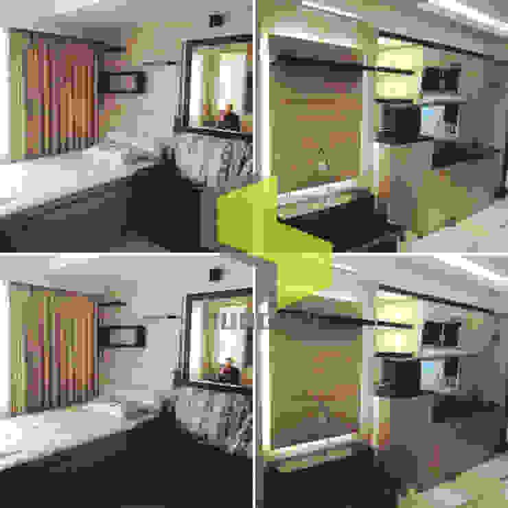 Modern minmalis:modern  oleh Hundagi interior design, Modern Kayu Lapis