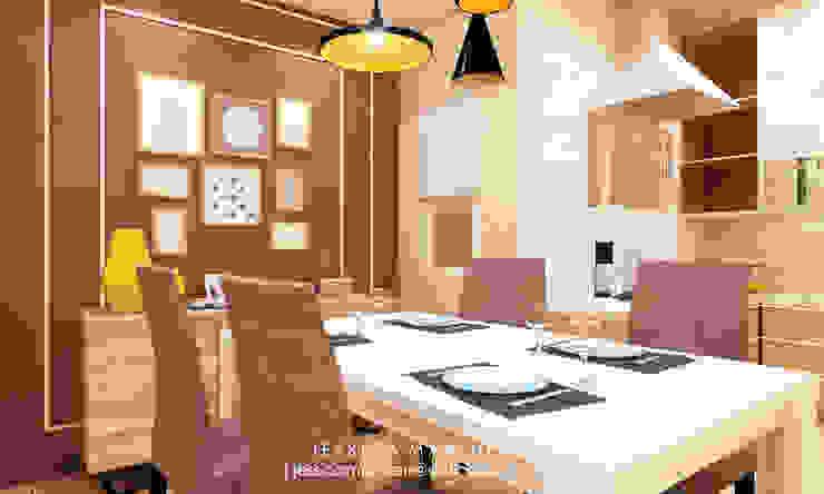 Mr S House (Emerald Town House PIK):  Ruang Makan by JESSICA DESIGN STUDIO