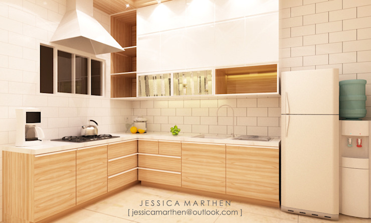 Mr S House (Emerald Town House PIK):  Dapur by JESSICA DESIGN STUDIO