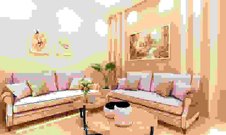 Mr S House (Emerald Town House PIK) Ruang Keluarga Modern Oleh JESSICA DESIGN STUDIO Modern