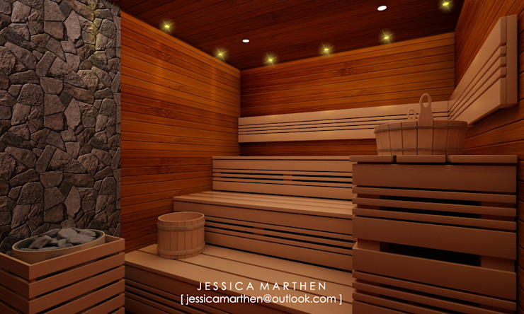 Mr S House (Emerald Town House PIK):  Spa by JESSICA DESIGN STUDIO