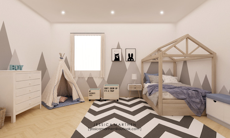 Scandinavian style nursery/kids room by JESSICA DESIGN STUDIO Scandinavian
