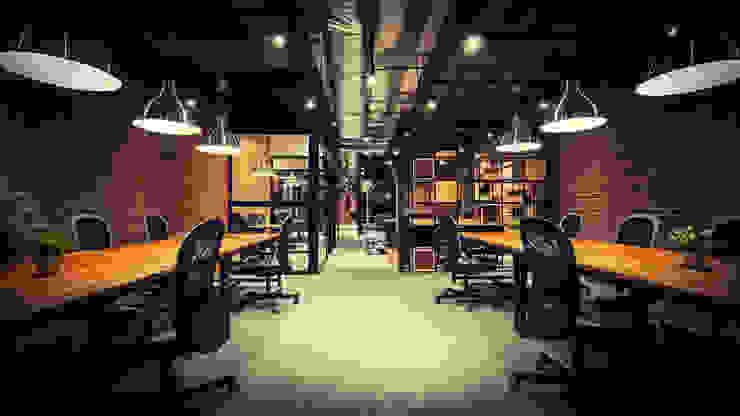 Kantor & Toko Gaya Industrial Oleh FN Design Industrial