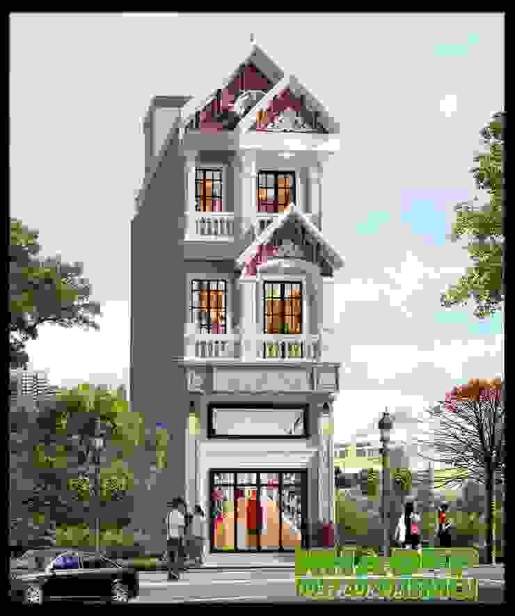 Không gian kiến trúc thanh thoát, đường nét sắc sảo nhẹ nhàng. bởi Công ty TNHH TKXD Nhà Đẹp Mới Châu Á