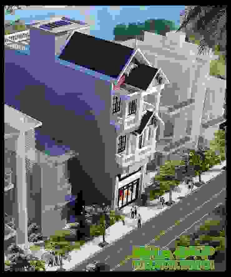 Chan hòa với cảnh quan tự nhiên bằng nhiều giải pháp kiến trúc đồng bộ. bởi Công ty TNHH TKXD Nhà Đẹp Mới Châu Á