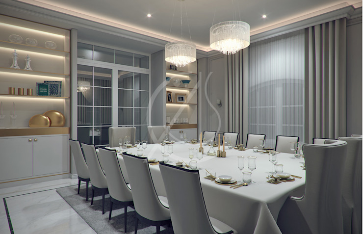 Dining Room Modern Dining Room by Comelite Architecture, Structure and Interior Design Modern
