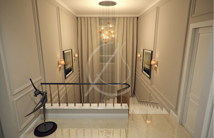 Staircase Hallway Modern Corridor, Hallway and Staircase by Comelite Architecture, Structure and Interior Design Modern