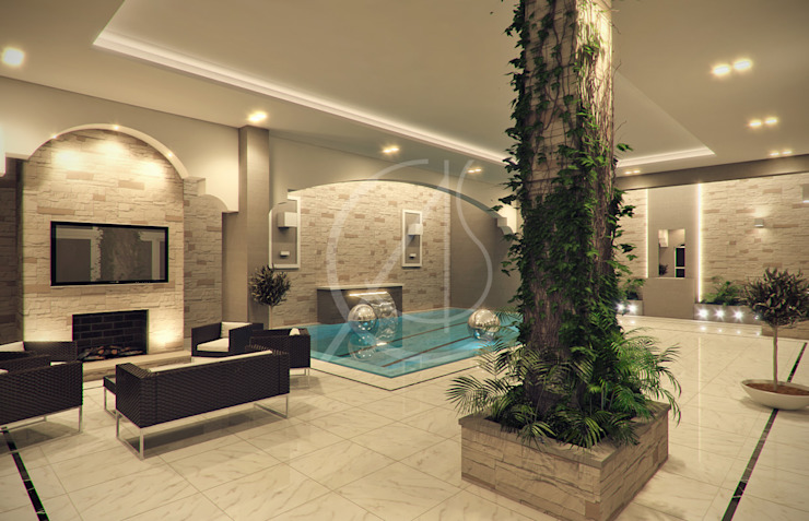 Indoor Pool Modern Pool by Comelite Architecture, Structure and Interior Design Modern