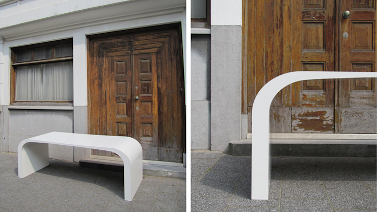 DJØST a table nr 01: modern  door MOTUS architects, Modern