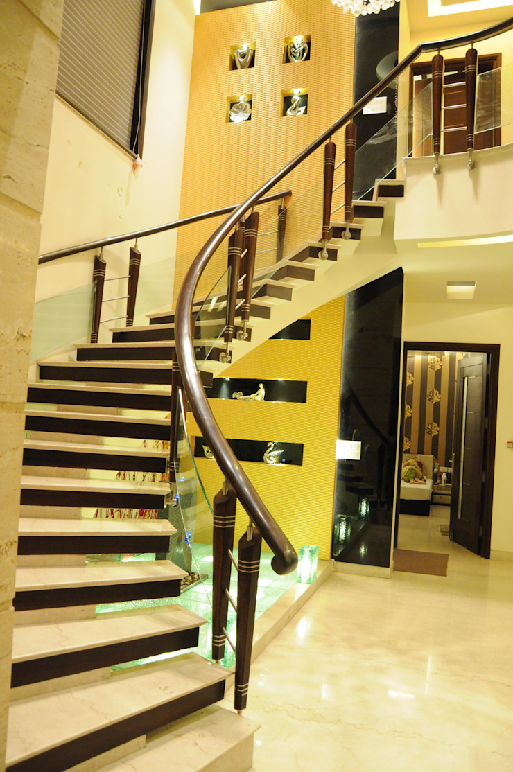 Residential Project Modern corridor, hallway & stairs by Maverick Architectural Studio Modern