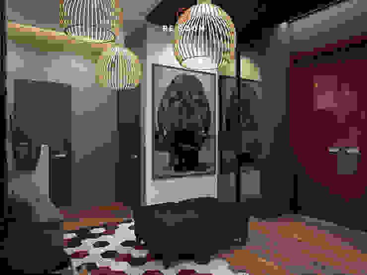 Reroom industrial style corridor, hallway & stairs