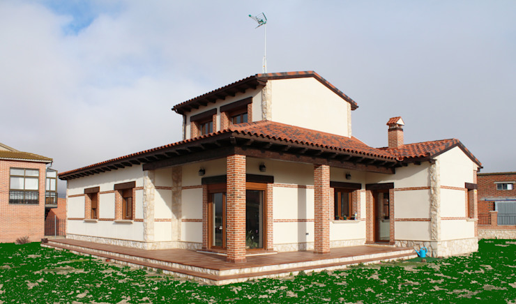 Rustic style houses by mh11arquitectos Rustic