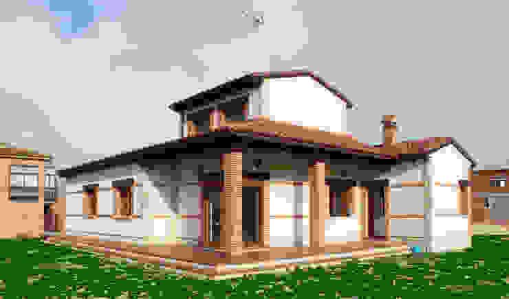 ラスティックな 家 の mh11arquitectos ラスティック
