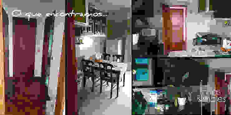 Cozinha Salas de estar modernas por Linhas Simples Moderno