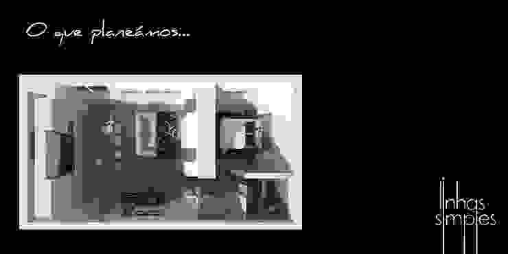 A nossa proposta Salas de estar modernas por Linhas Simples Moderno