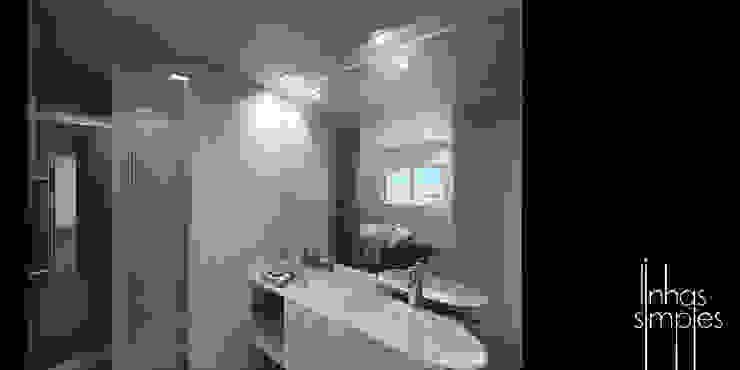 A casa de banho com o seu eepaço... publico e privado! Casas de banho modernas por Linhas Simples Moderno