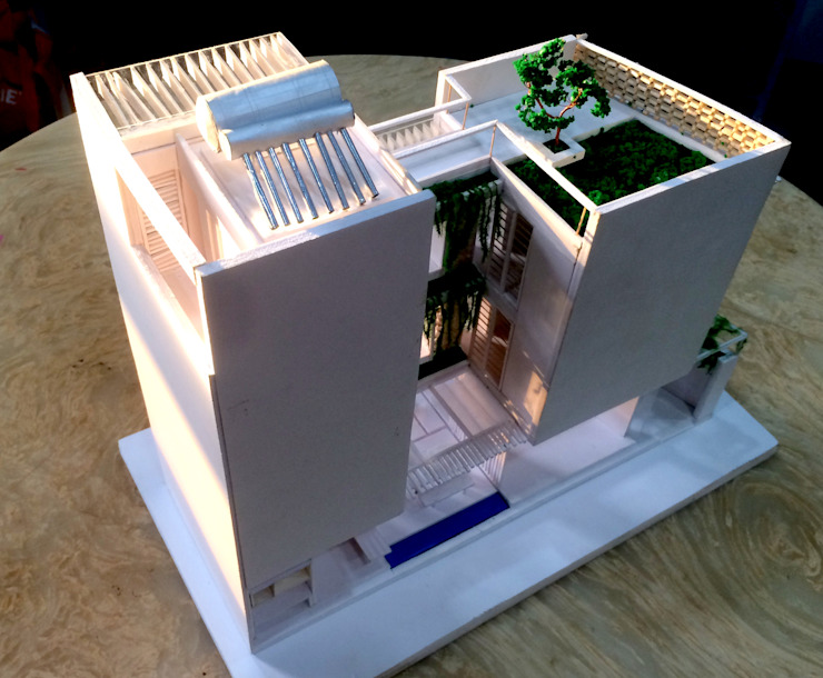 Nhà phố 6mx13m bởi D3A Hiện đại