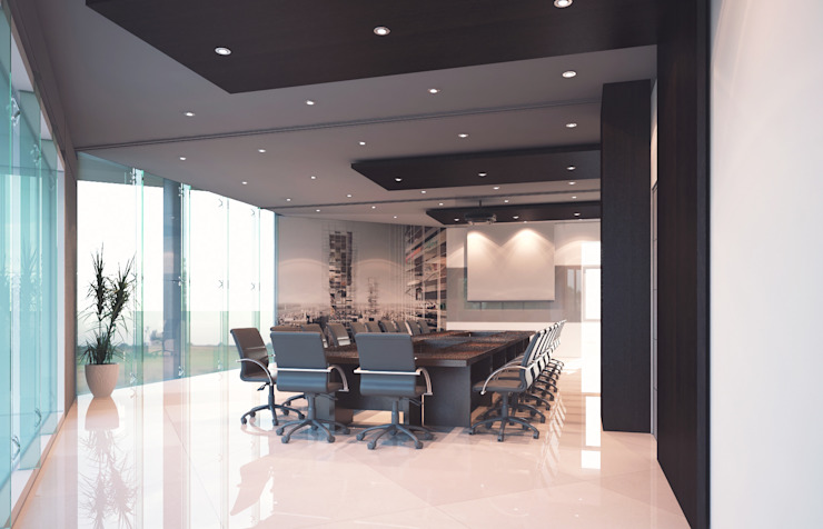 ruang meeting PT. PP Semarang Modern Study Room and Home Office by Celcius Indonesia Modern Plywood