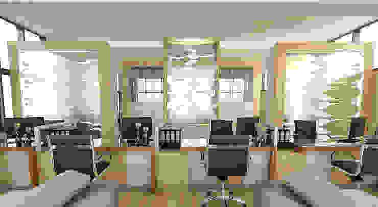 ruang layanan akademik Magister Management Universitas Gadjahmada Yogyakarta Modern Study Room and Home Office by Celcius Indonesia Modern Plywood