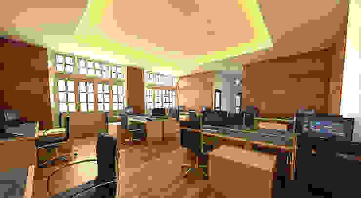 Interior Ruang staff kantor Hukum dan Organisasi Unversitas Gadjahmada Yogyakarta by Celcius Indonesia Modern Plywood
