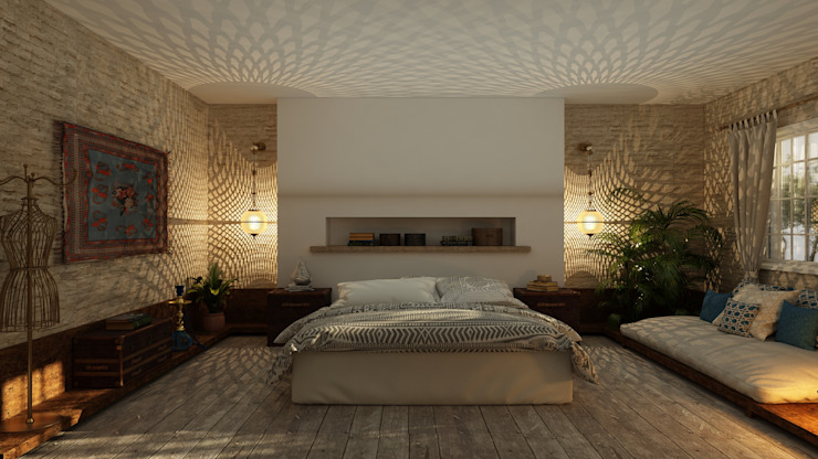 Residential Project Eclectic style bedroom by ICONIC DESIGN STUDIO Eclectic