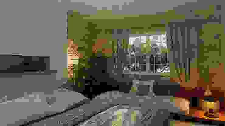 :  غرفة نوم تنفيذ ICONIC DESIGN STUDIO, إنتقائي