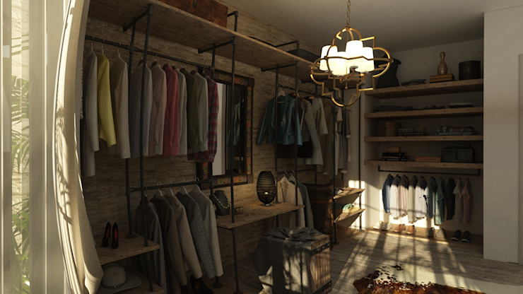 Residential Project Eclectic style dressing rooms by ICONIC DESIGN STUDIO Eclectic