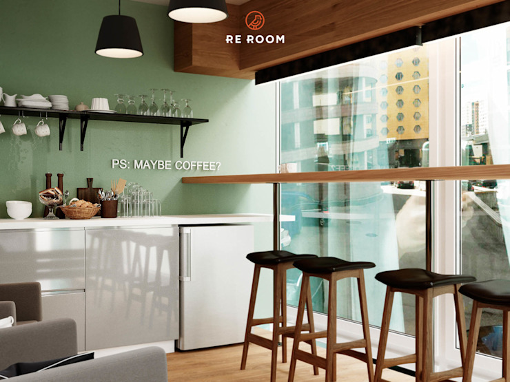 Minimalistische Gastronomie von Reroom Minimalistisch