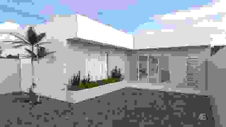FACHADA Casas modernas por Aline Bassani Arquitetura Moderno