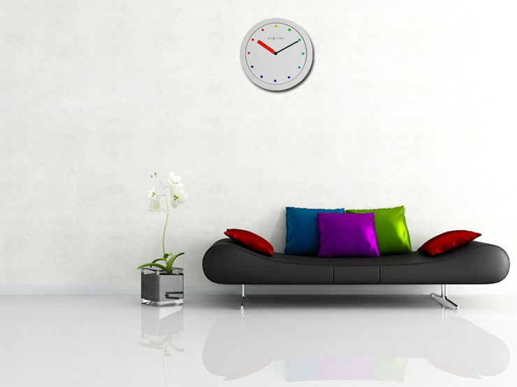 Nextime Colour Change Stripe: modern  by Just For Clocks,Modern Plastic