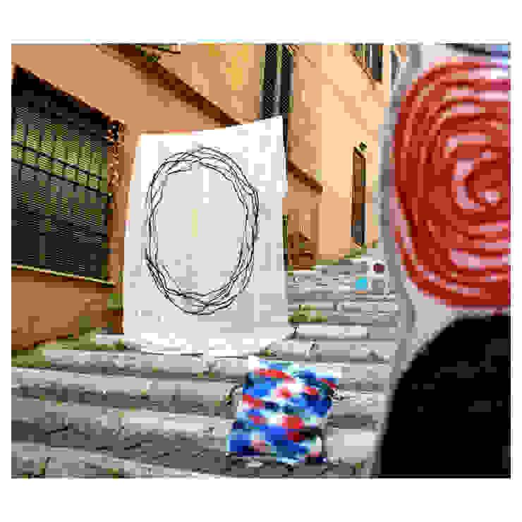 Tenda art. 202 cerchio lineale di Elena Kihlman Minimalista Lino Rosa