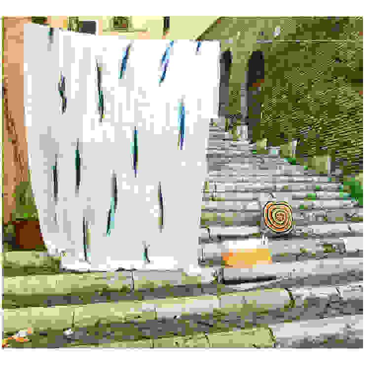 Tenda art. 255 righe di Elena Kihlman Minimalista Lino Rosa