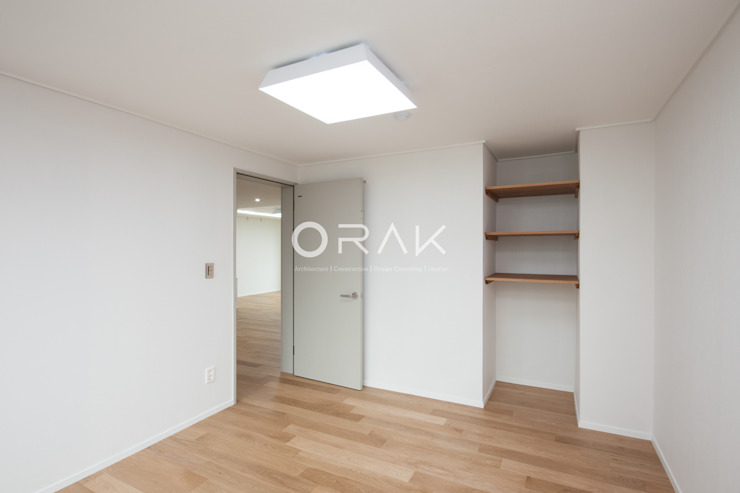 자양동 삼성아파트 / 32평형 아파트 인테리어 모던스타일 미디어 룸 by 오락디자인 모던