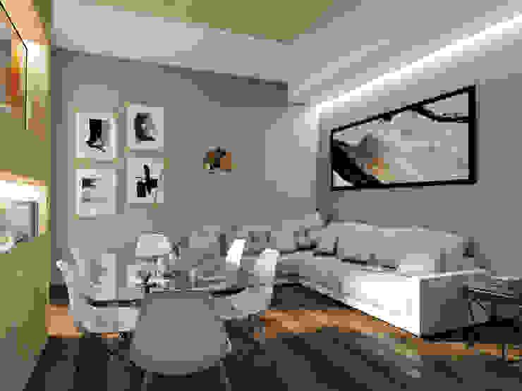 Zona living StudioExNovo Soggiorno moderno