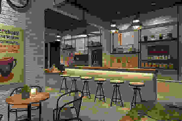 Cafe bistro Gastronomi Gaya Industrial Oleh Kottagaris interior design consultant Industrial