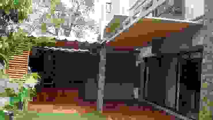 Toldo plegable en CDMX, un cambio radical. Casas modernas: Ideas, diseños y decoración de Materia Viva S.A. de C.V. Moderno