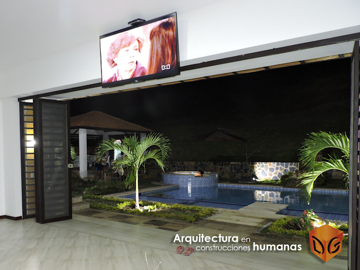 PISCINA de DG ARQUITECTURA COLOMBIA Moderno Azulejos