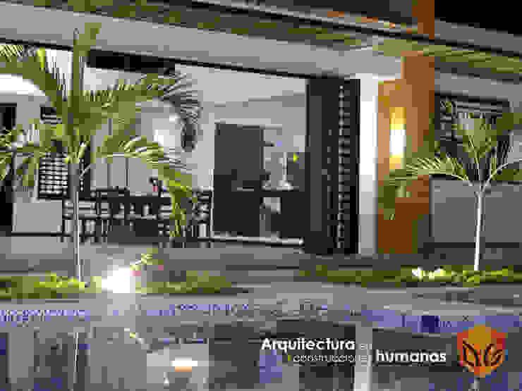 VISTA HACIA EL INTERIOR Salas de estilo moderno de DG ARQUITECTURA COLOMBIA Moderno Madera Acabado en madera