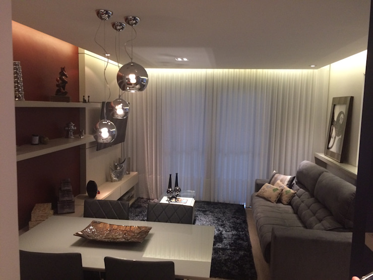 Moderne Wohnzimmer von Estudio Duo Arquitetura e Design Modern