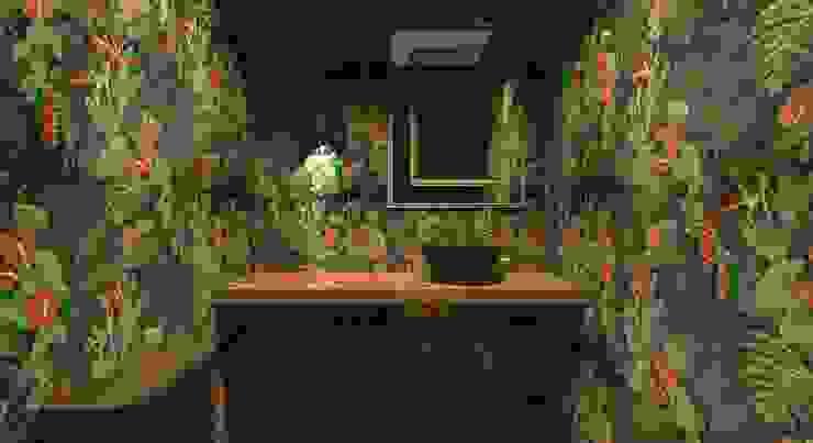 Apartamento Menta Quintal Arquitetura Banheiros ecléticos