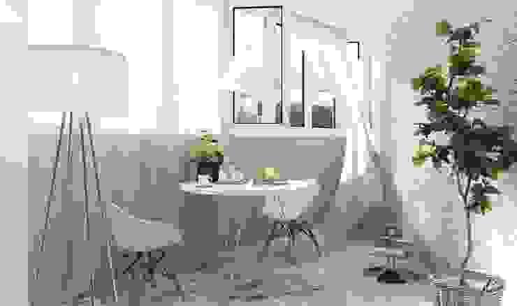 Salas / recibidores de estilo  por Студия интерьера go design